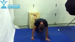 حرکت کششی عضله چهار سر ران و عقب ران کششی