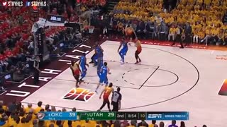خلاصه مسابقه Oklahoma City Thunder vs Utah Jazz