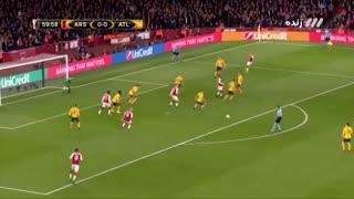 گل اول آرسنال در مقابل اتلتیکو مادرید
