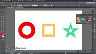 آموزش ساخت کامپوند پس : نرم افزار ایلوستریتور سی سی Illustrator compound paths shapes