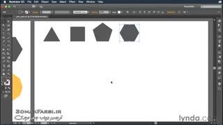 آموزش مقدماتی ایلوستریتور : ترسیم ستاره دو بعدی Illustrator Drawing polygons stars