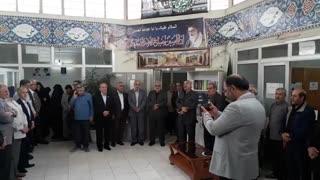 مراسم بازگشت حاج آقا شکری به ستاد بعد از فوت والده مکرمه