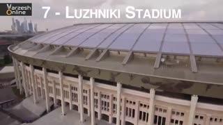 مختصات و مشخصات دقیق استادیومهای میزبان جام جهانی 2018 روسیه