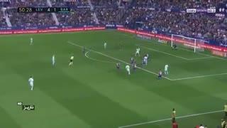 خلاصه بازی لوانته 5 - 4 بارسلونا / پایان شکست ناپذیری بارسلونا