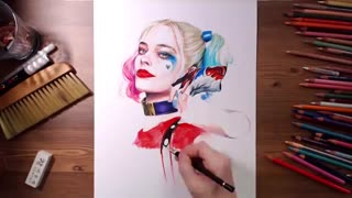 Harley Quinn speed drawing