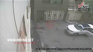 لحظه جنایت خونین «وحید مرادی» شرور معروف تهران، از نگاه دوربین مداربسته