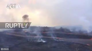هاوایی مدفون زیر گدازههای آتشفشان