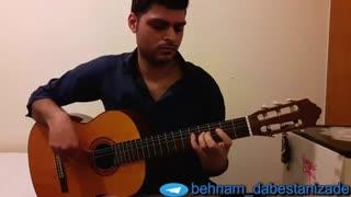 آهنگ ترکی  Icimdeki Duman با گیتار نت و تبلچر بهنام