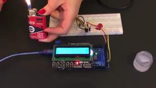 چگونه با سنسور DS18B20 و آردوینو Mega2560 دماسنج بسازیم؟