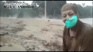 لحظات دلهرهآور از فوران آتشفشان در گواتمالا | یک روستا ناپدید شد؛ ۲۵نفر سوختند