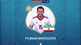 اعضای تیم ملی و شماره پیراهن های آنها در جام جهانی