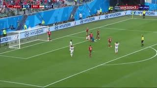 کلیپ خلاصه بازی ایران و مراکش + موقعیت های خطرناک گل