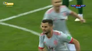 ناچو ، جبران اشتباه ، کامبک اسپانیا ؛ گل سوم اسپانیا به پرتغال