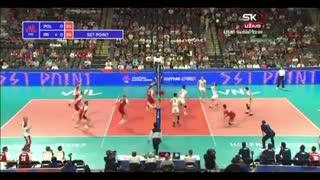 ایران 3 - لهستان 0   والیبال لیگ ملت های ۲۰۱۸