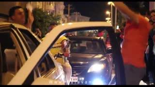 جشن و شادی مردم انزلی پس از پیروزی تیم ملی برابر مراکش