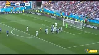 خلاصه بازی اروگوئه و عربستان
