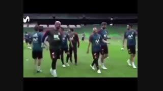 تمرین عجیب تیم ملی اسپانیا یک روز قبل از بازی با ایران !! چرا اینجوری؟؟