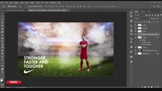 آموزش پوستر فتوشاپ فوتبالی