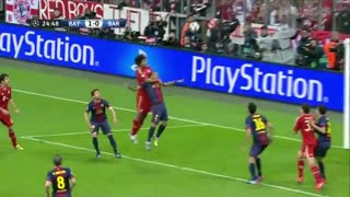 گل توماس مولر به بارسلونا در لیگ قهرمانان اروپا 13-2012