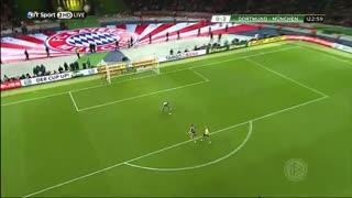 گل توماس مولر به دورتموند در فینال جام حذفی 2014 آلمان