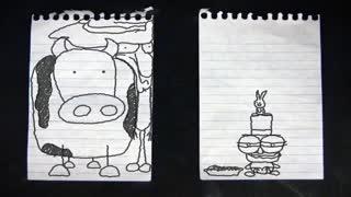 ماجرای مداد متحرک - برگرداندن پن کیک در تابه