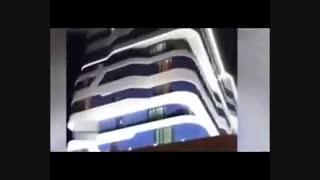 فیلم کامل تجمع شبانه هواداران تیم ملی جلوی هتل رونالدو