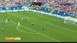 خلاصه جام جهانی: اروگوئه ۳-۰ روسیه