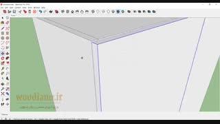 آموزش طراحی کابینت آشپزخانه با اسکچ آپ 2018- قسمت 7