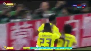 بازگشت کلمبیایی ها به بازی در لحظات آخر ؛ گل اول کلمبیا به انگلیس