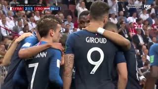 شادی پس از گل فورتنایتی گریزمان در فینال جام جهانی 2018 - بازی مگ