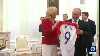 هدیه جالب رییس جمهور #کرواسی به #پوتین