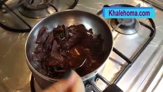 آموزش تصویری ذوب کردن شکلات به روش بن ماری / Melt the chocolate in Bain-marie method