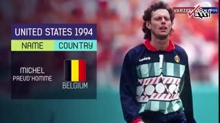 برندگان دستکش طلایی جام جهانی از سال ۱۹۳۰ تا ۲۰۱۸