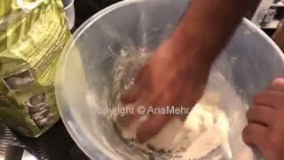 آموزش درست کردن نان لواش خانگی در سه سوت