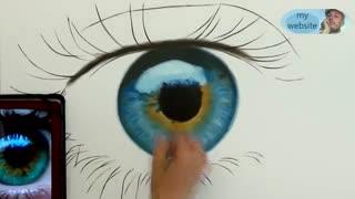 Speed drawing eyes نقاشی حرفه ای چشم