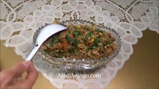 طرز تهیه سالاد ماکارونی همراه با بالزامیک