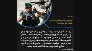 فایر پاور : ایران سیزدهمین قدرت نظامی جهان