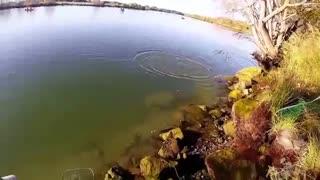فیلم مستند اموزش پرتاب  قلاب با لنسر و صید ماهی ازاد ( ماهی سالمون)