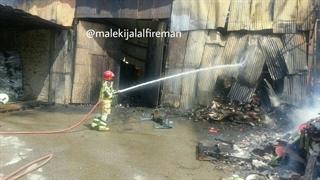 آتشسوزی مهیب در جنوب تهران