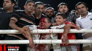 درگیری طرفداران پرسپولیس و فولاد | لیدر فولاد به راهروی زیر استادیوم سقوط کرد!