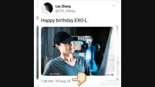 اپدیت توییتر لی با تبریک روز اکسوالا ♡♡♡ + توضیحات