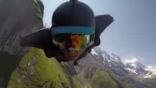 پرش با وینگ سویت از ارتفاعات سوییس