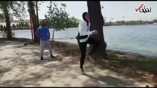 تمرینات سخت الهه منصوریان، ورزشکار زن مشهور ایرانی