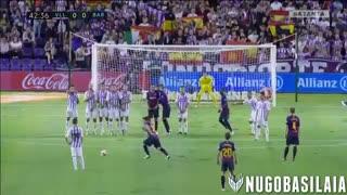 حرکات لیونل مسی مقابل رئال وایادولید ( 4 شهریور 97 )