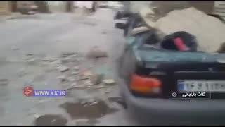 خسارات زمین لرزه 5.9 ریشتری دیشب در تازه آباد کرمانشاه -