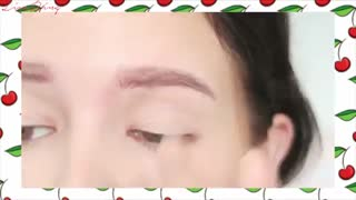 ♡ red cherry girly makeup♡