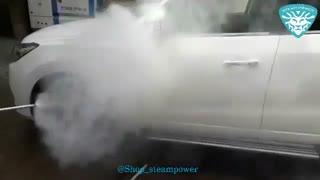 کارواش ماشین در تهران  با دستگاه کارواش بخار اکو 150