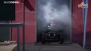 ربات با حس بویایی که به آتشنشانان کمک میکند