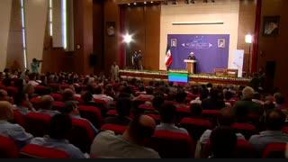 سخنرانی حسن روحانی در عسلویه در افتتاحیه چند طرح پتروشیمی