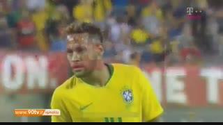 خلاصه بازی دوستانه: آمریکا ۰-۲ برزیل